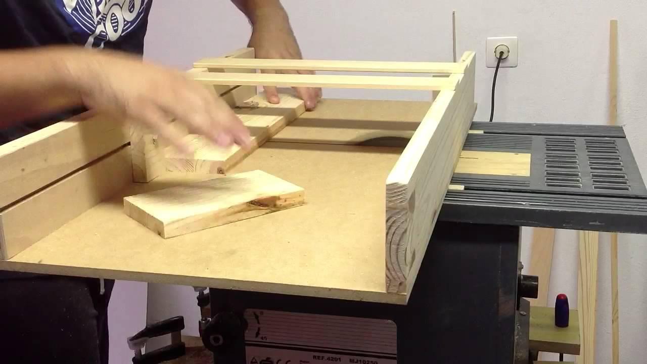 Deslizador sierra circular de mesa youtube for Sierras de mesa