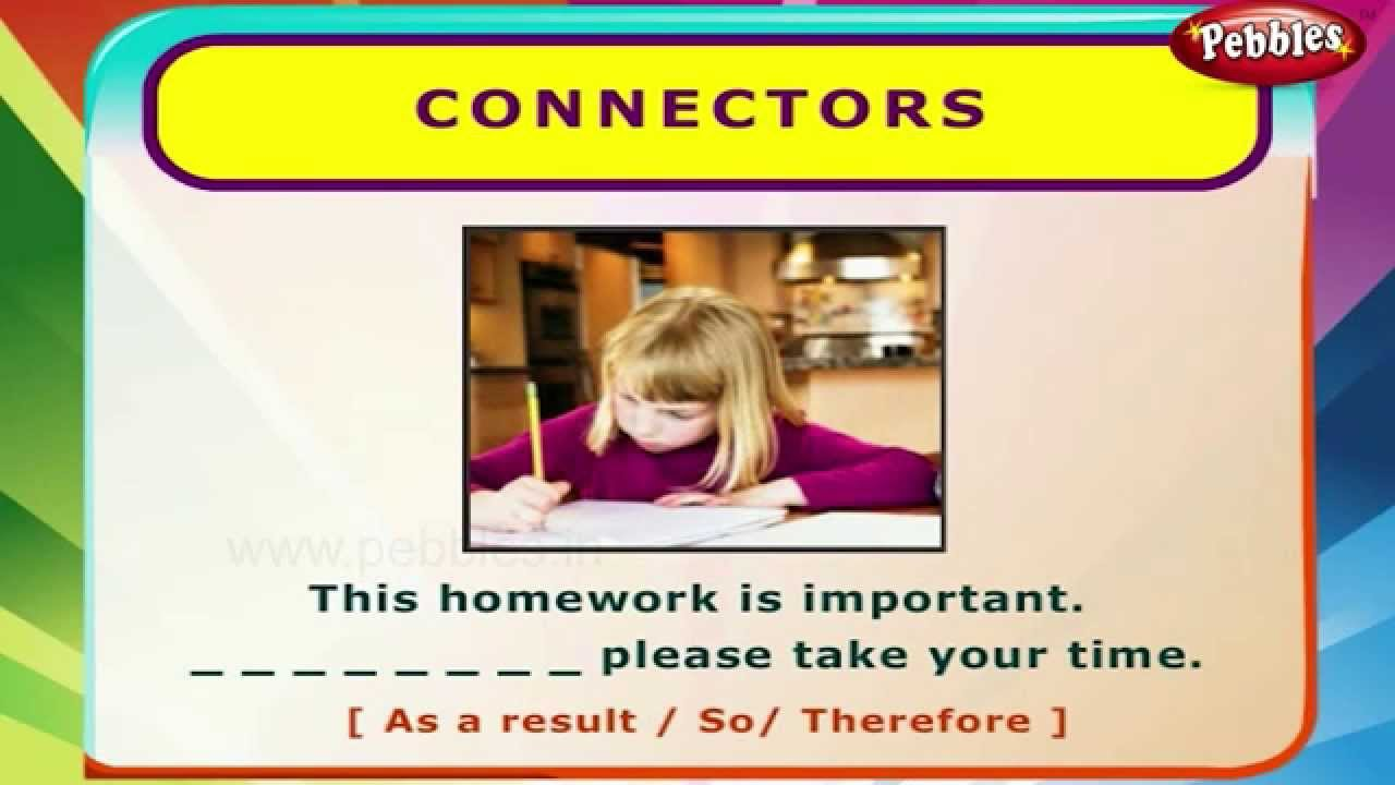 small resolution of Connectors   English Grammar Exercises For Kids   English Grammar For  Children - YouTube