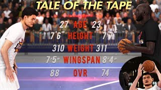 "NBA 2K20 - 7'7"" TACKO FALL vs 7'6"" YAO MING 1v1 