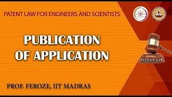 Publication of Application