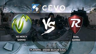 CEVO BF3 5v5 PLAYOFFS No Mercy GG Vs rivaL 66-0 Bazaar USA