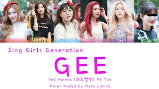 Red Velvet (레드벨벳) Ft You sing Girls Generation gee 《Eng|Rom|…