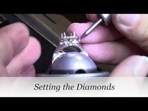 MAKING AN ANTIQUE STYLE DIAMOND ENGAGEMENT RING | Ashley's Engagement Ring  |  Vanessa Nicole Jewels