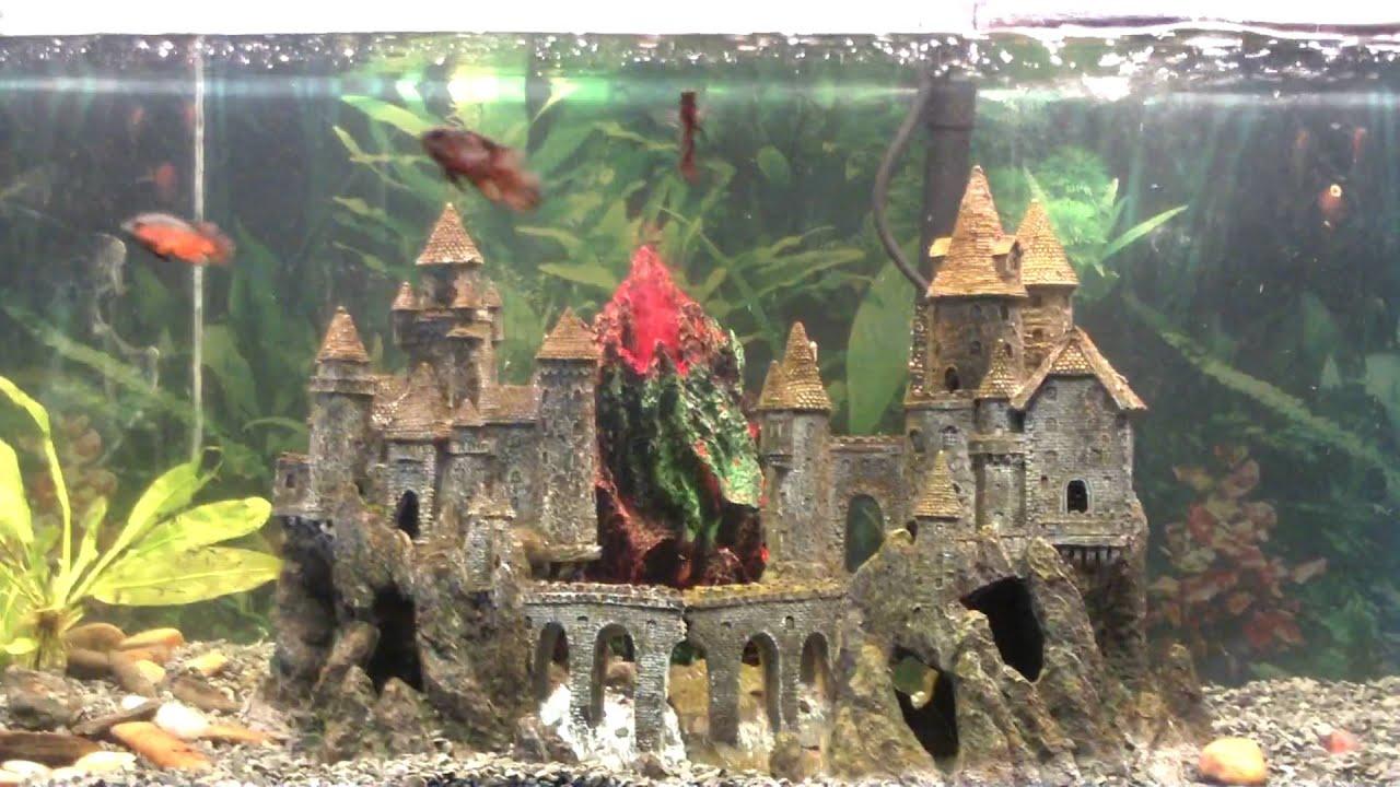 Fish tank volcano - Wonderfalls Large Aquarium Volcano And Baby Oscars