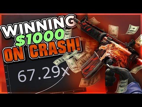 CSGO ROLL BETTING: WINNING $1000 ON CSGO CRASH!