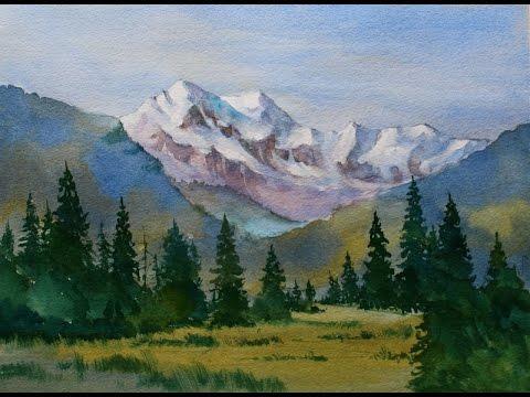 beginners mountain watercolor