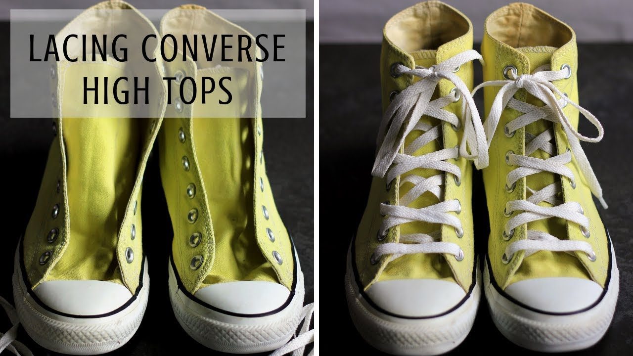COOL WAY FOR LACING CONVERSE HIGH TOPS