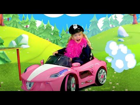 Slava and Yarik Pretend Play Cops and Steal Lamborgini
