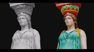 Colors of Ancient Europe – Caryatid from the Erechtheion in Athens