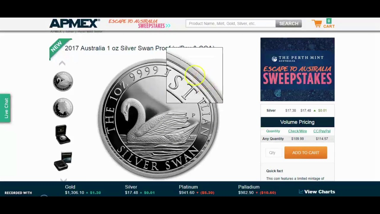 2017 Australia 1 Oz Silver Swan Proof 2 500 Mintage Wow