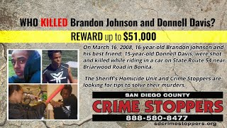Who Killed Brandon Johnson and Donnell Davis? - San Diego County Sheriff's Department