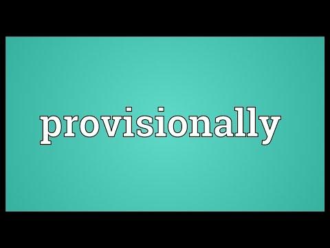 Header of provisionally
