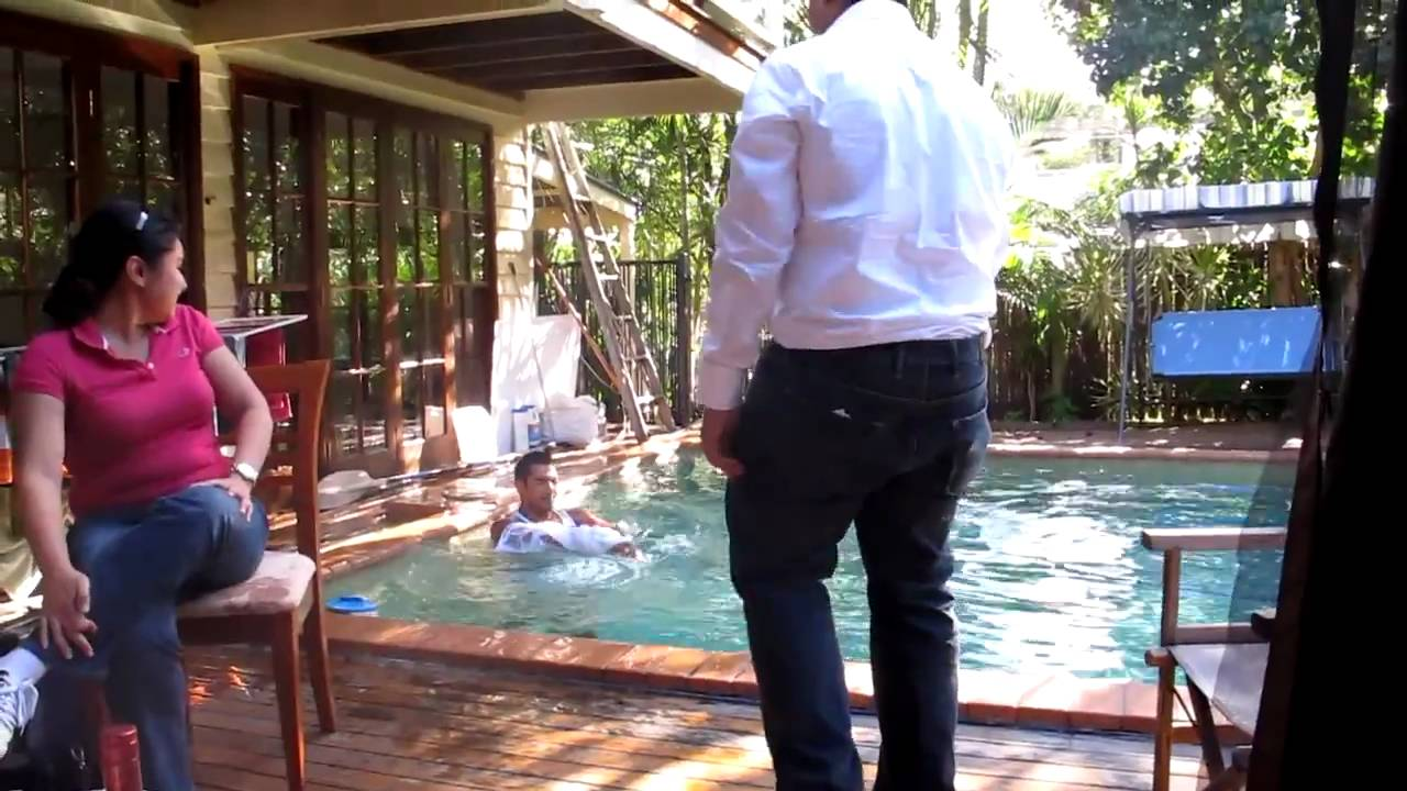 I PUSHED HER IN THE POOL!! (BIG MISTAKE) - YouTube
