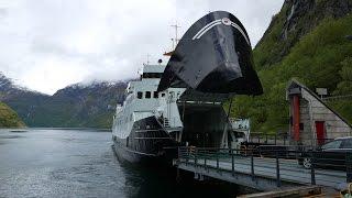 Fjord1 Fergeruter Ferry & Norwegian Star Cruise Ship in Geiranger Norway (4K)