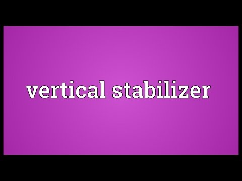Vertical stabilizer Meaning