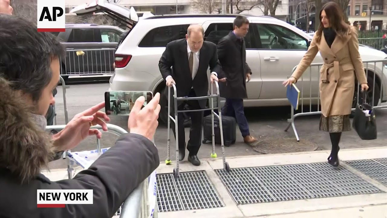 Harvey Weinstein arrives at court in NYC