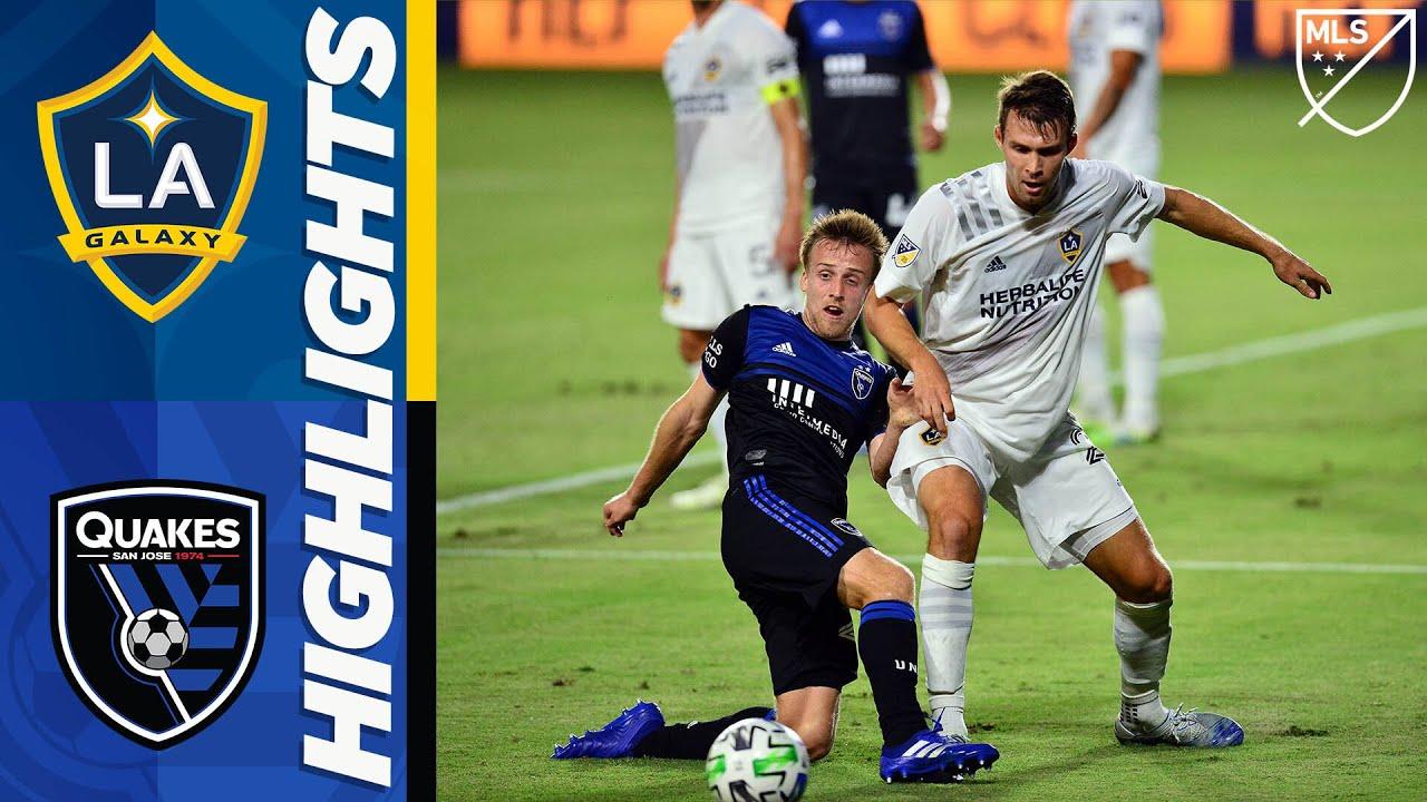 LA Galaxy vs. San Jose Earthquakes | August 29, 2020 | MLS Highlights