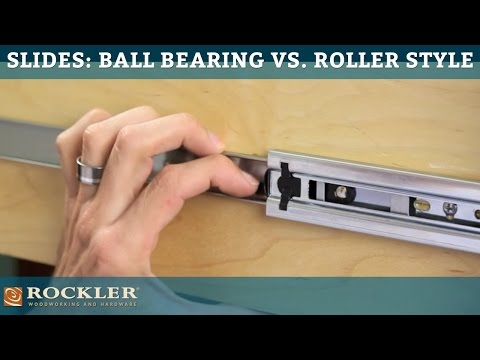 Drawer Slide Tutorial: Ball Bearing vs. Roller Style