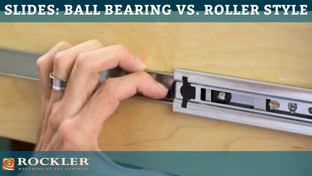 Drawer Slide Tutorial: Ball Bearing vs  Roller Style