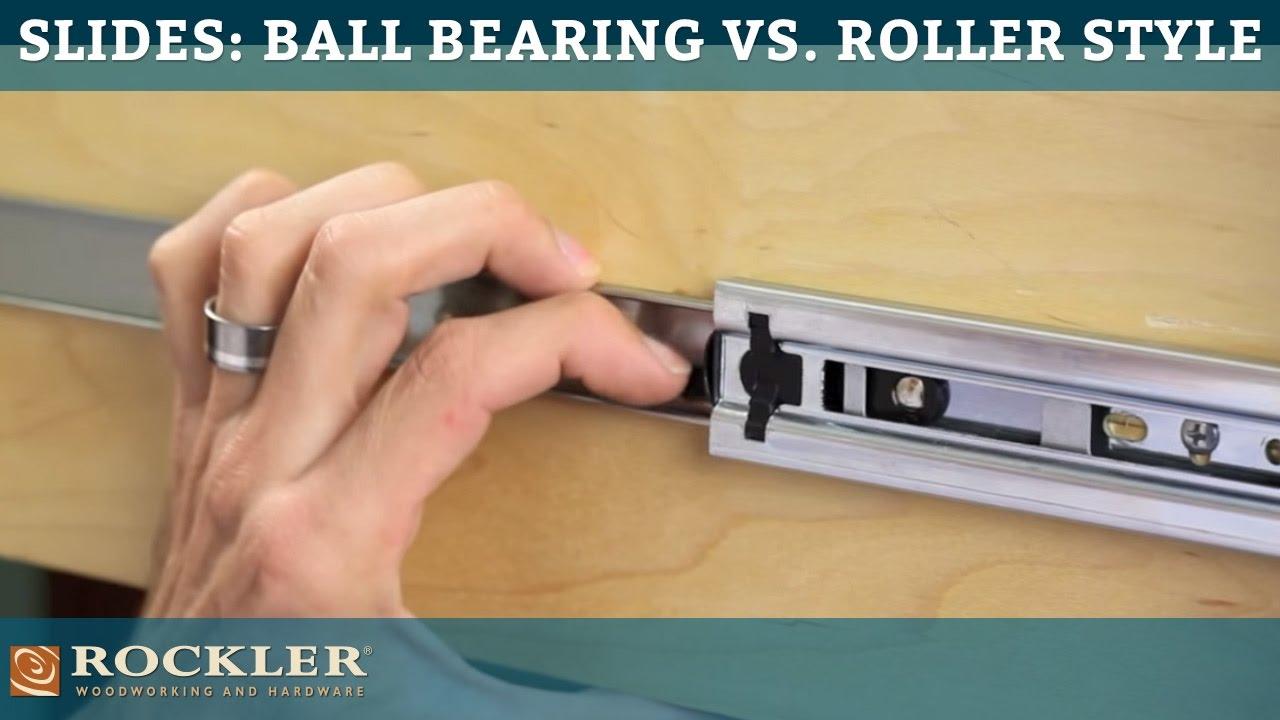 Drawer Slide Tutorial Ball Bearing vs Roller Style  YouTube