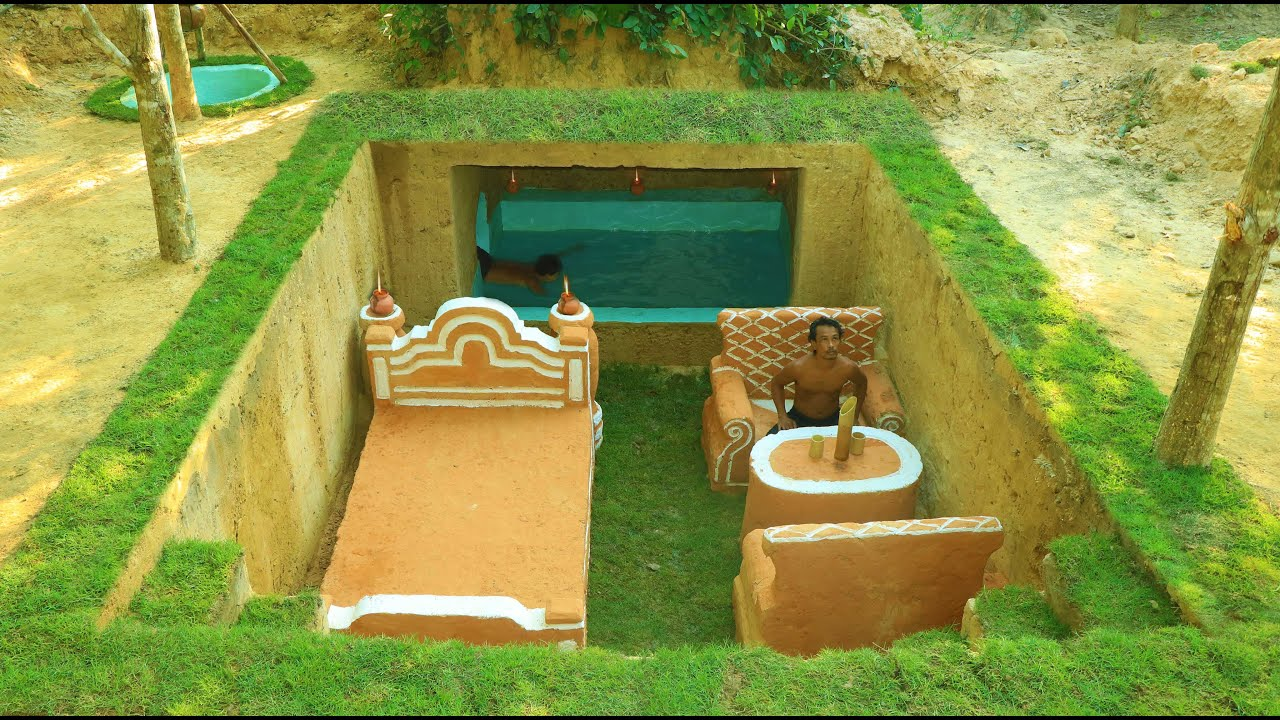 Building Cave Platinum Underground Swimming Pool With Private Living Room