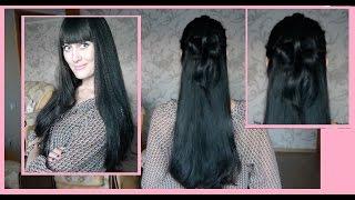 Бант на распущенные волосы / Быстрая прическа/ Нежный образ