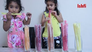 Learn Colors with Ice Lolly Ishfi Rufi's having Ice Cream