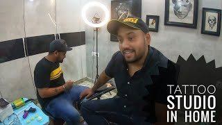 lockdown mai bnaya ghar pe tattoo😍| Tattoo studio in house 😱