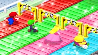Mario Party 7 MiniGames - Mario Vs Luigi Vs Wario Vs Peach (Master Cpu)