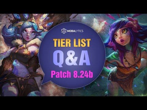 League of Legends Mobalytics Patch 8.24B Tier List Q&A
