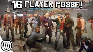 Red Dead Online: HUGE SERVER-SIZE POSSE! - Free-Roam Gameplay