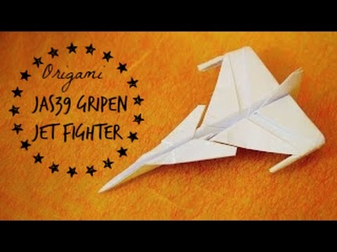 How To Make An Jas 39 Gripen Jet Fighter Paper Plane Tadashi Mori