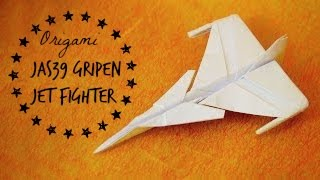 How To Make An Jas 39 Gripen Jet Fighter Paper Plane (tadashi Mori)