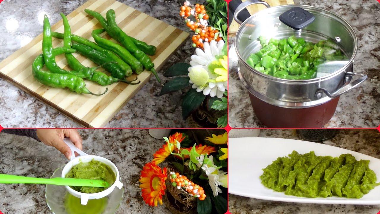 Hrissa Piment vert //DZ// 🌟هريسة 🌟الفلفل الأخضر بأبسط ✔ و أسهل طريقة