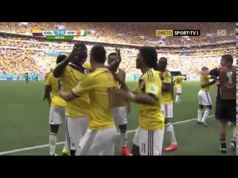 Colombia vs Ivory Coast  2-1 19 june 2014