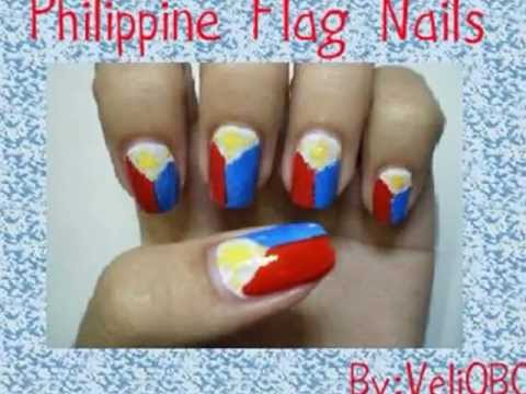 Philippine Flag Nail Art Youtube
