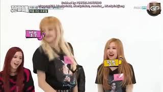 Bts and Blackpink on Weekly idol.Theyre on the show togetherThey were forced to kiss BTS