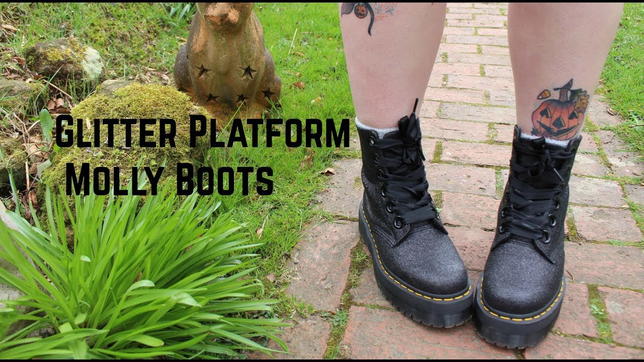 c357fa5b9 Molly Glitter Platform Dr Martens Boots - Unboxing and Review - YouTube