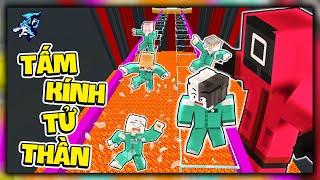 Siro Chơi Trò Chơi Con Mực: Tấm Kính Tử Thần trong Minecraft