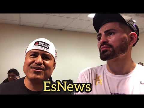 Jose Ramirez And robert garcia post fight