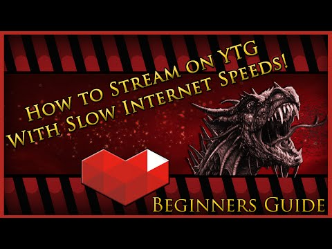 Beginners Guide: How to Stream on YouTube with Slow Internet Speeds!