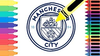 How to Draw Manchester City FC Badge - Drawing the Man City Logo - for kids