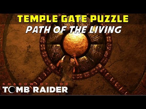 How to open the Temple Gate (Path of the Living Puzzle, Kuwaq Yaku) - SHADOW OF THE TOMB RAIDER
