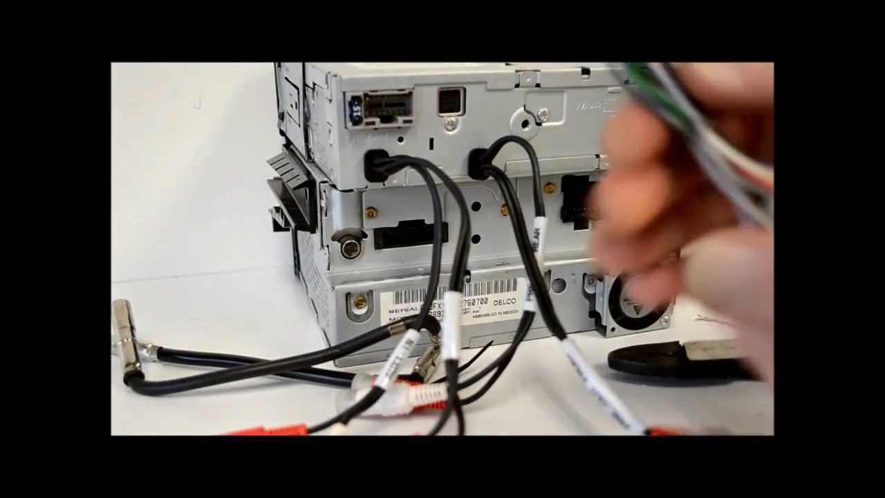 How To Wire An Aftermarket Radio I Demo Install With Metra Harness 06 Cts Wiring Diagram And Antenna Adapter Youtube