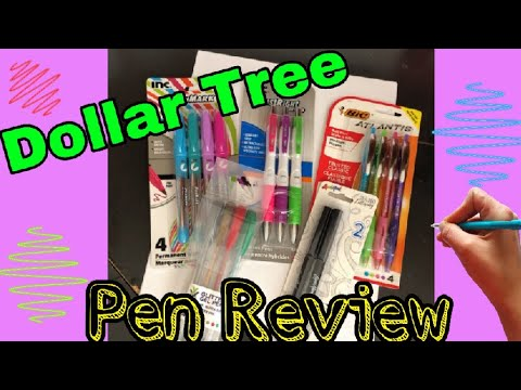 Dollar Tree Pen Review | Testing Pens & Markers | January 5, 2019