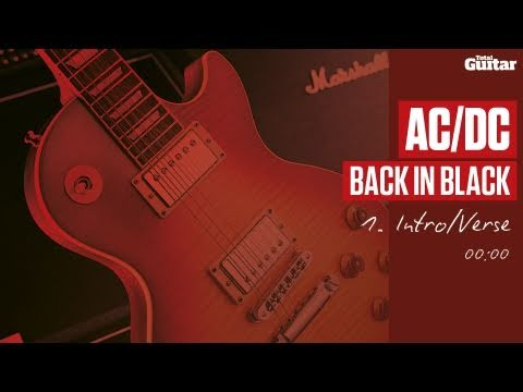 Guitar Lesson: AC/DC 'Back In Black' -- Part One -- Intro/Verse (TG214)