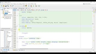 Tutorial 1 : Convert HTML Pages to JSP (NetBeans)