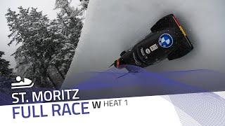 St. Moritz | Women's Monobob World Series Heat 1 | IBSF Official