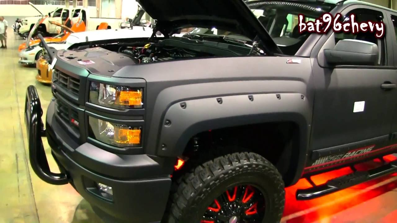 """FLAT BLACK 2014 Chevy Silverado 1500 lifted on 22"""" Offroad ..."""