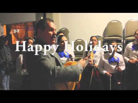 Mariachi Calmeca- Feliz Navidad- backstage rehearsal